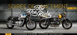 Le 3 Novembre, venez découvrir les nouvelles Triumph BONNEVILLE T100 et STREET CUP!
